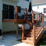 Timbertec Deck with Rod Iron Railing