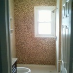 Custom Shower with Mosaic Tile