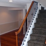 Custom Metal Railings in Basement