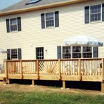 New Cedar Deck with Custom Railing
