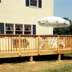 New Cedar Deck with Railings