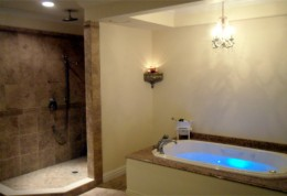New Custom Bathroom with Heated Floors
