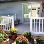 Timbertex Deck with PVC Railing