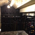 Stone Barrel Ceiling in Wine Room