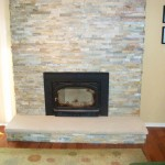 Existing Wood Fireplace with New Stack Stone