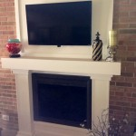 Existing Wood Fireplace with Custom Wood Mantle
