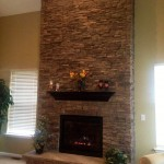 New Gas Fireplace with Stack Stones