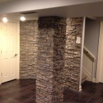 New Stack Stone Columns in Basement
