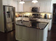 New Kitchen Island with Farmers Sink