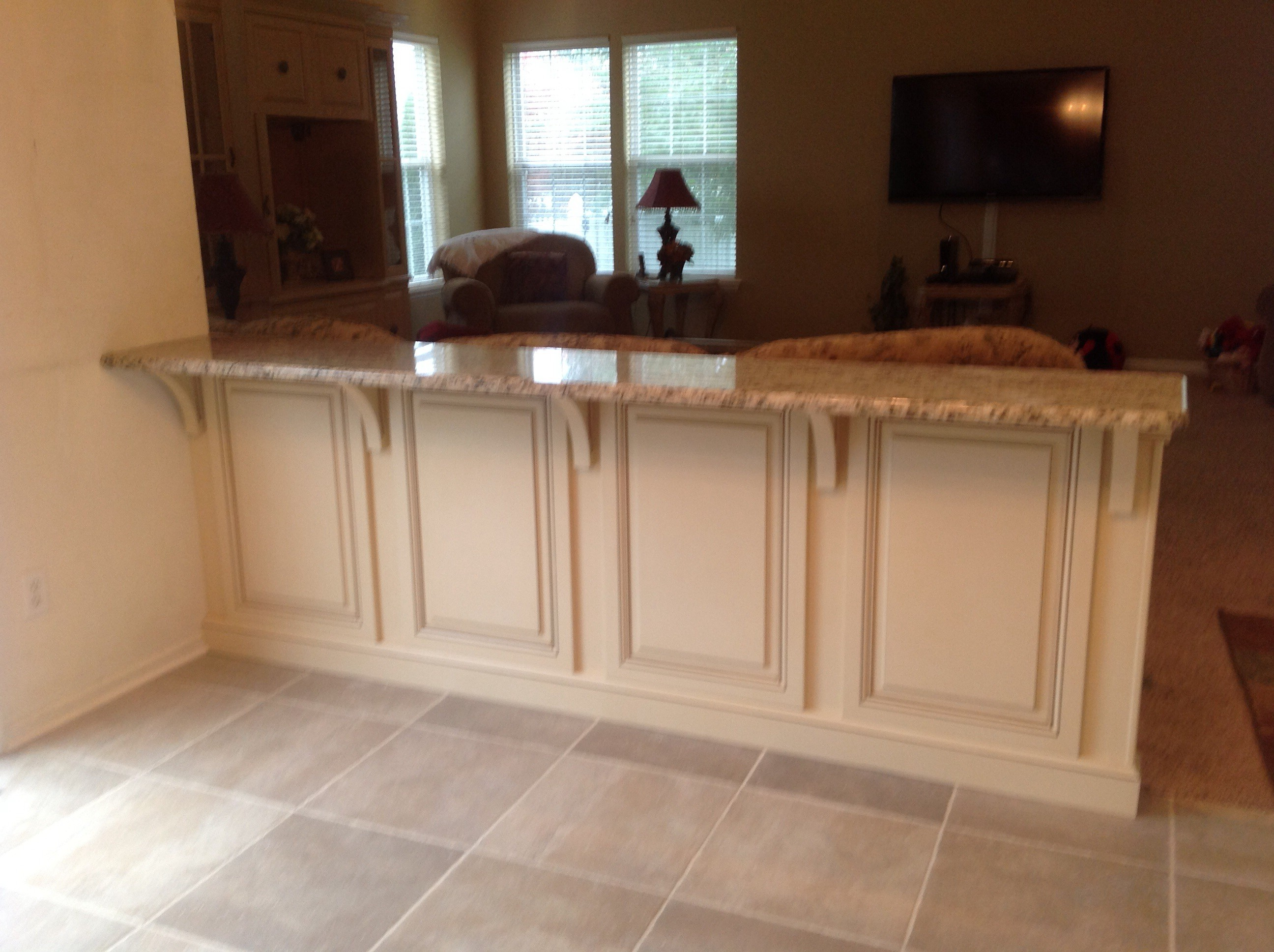 Kitchen Island Knee Wall a-master builders | kitchen remodeling, a-master builders