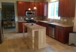 New Ceramic Tile and Island