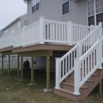 New 2 level Deck with PVC Railings
