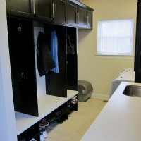 Laundry Room Renovation With Custom Cubbies for each child