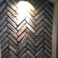 Herringbone Tile for Niche Backs