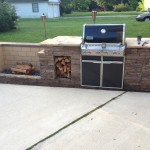 Built in Gas Grill with Fire Pit