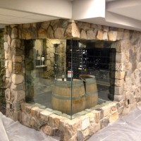 Custom Stone Wine Room