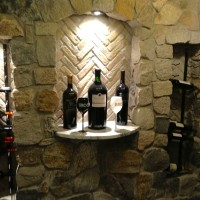 Niche with Recessed Wine Racks