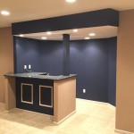 Basement Renovation with Custom Bar