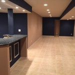 Basement Renovation with Tile Flooring