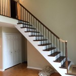 New Stairs with Rod Iron Spindles and Oak Treads