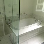 Bathroom Renovation  with  Soaking Tub and Custom Front Panel