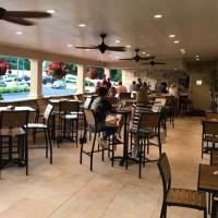 Inside the new bar and patio area